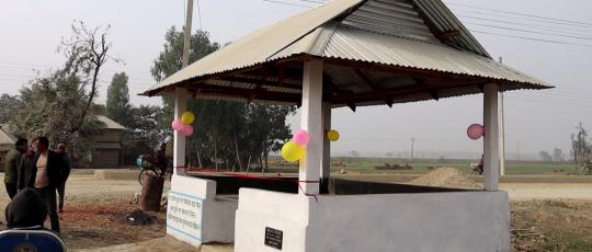 ग्रामथानमा चौतारा निर्माण गरि समुदायलाई हस्तान्तरण